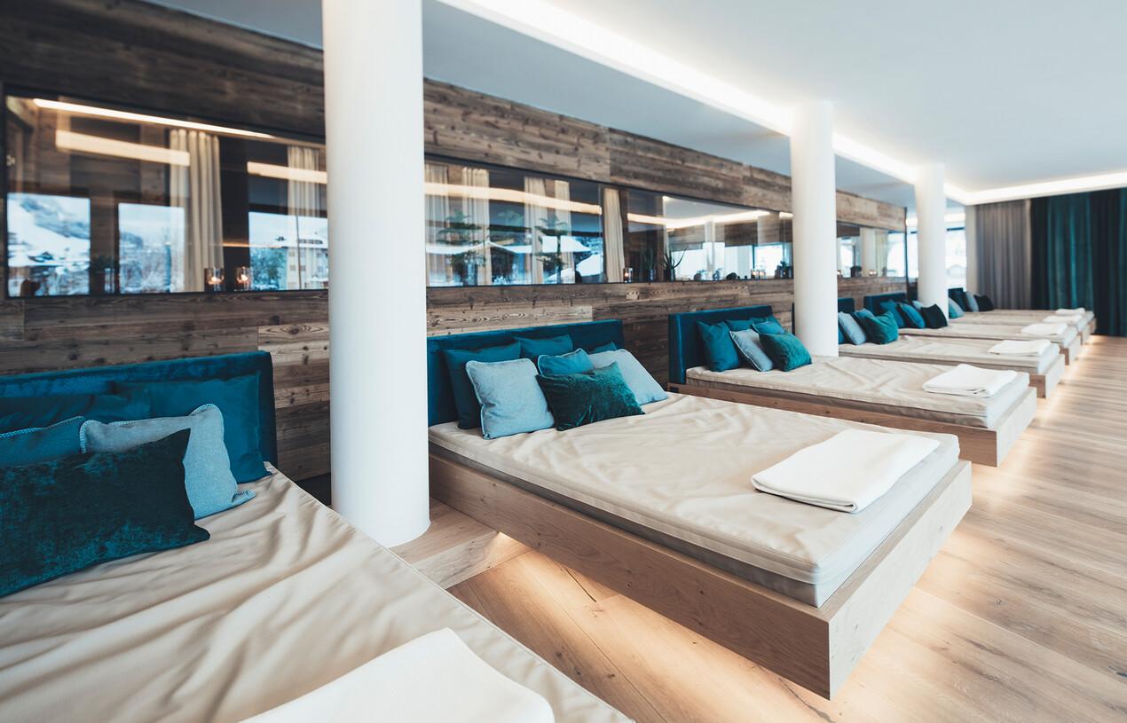 Wasserbetten im Wellnessbereich im Hotel Nesslerhof