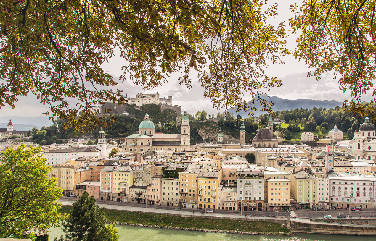 Die Stadt Salzburg - Blick vom Kapuzinerberg