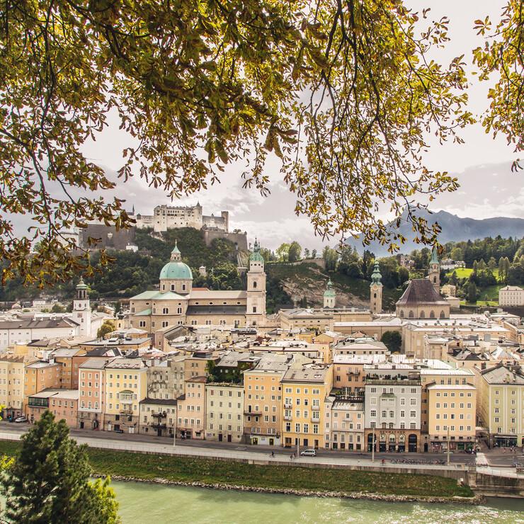 Blick vom Kapuziner Berg auf die Salzburger Altstadt