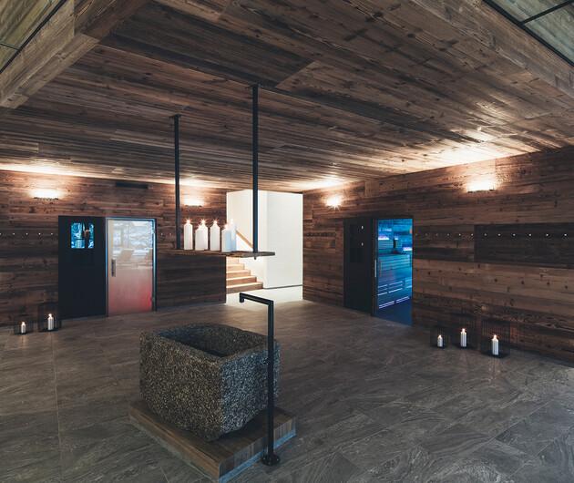 Große Saunalandschaft im Wellnesshotel Nesslerhof in Großarl